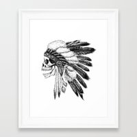 american Framed Art Prints featuring Native American by Motohiro NEZU