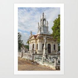 Christopher Columbus Necropolis Cemetery Graveyard Havana Cuba Latin America Gothic Architecture Sai Art Print