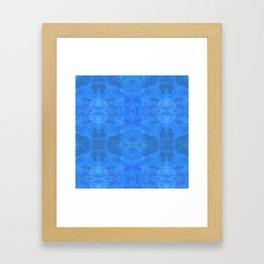 Aztec in blue Framed Art Print