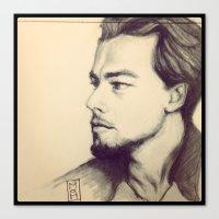 leonardo dicaprio Canvas Prints featuring Leonardo DiCaprio by MuseDesignLab