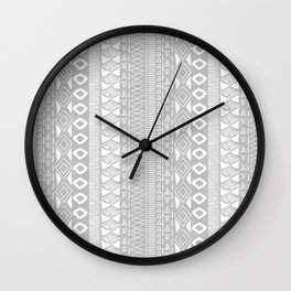 Adobe in Grey Wall Clock
