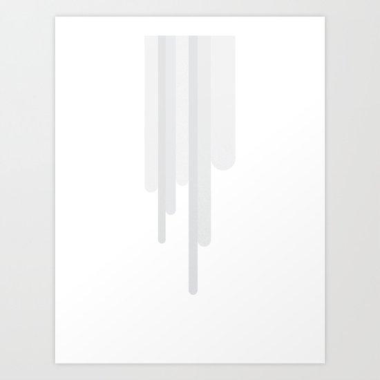 White Trickle Art Print