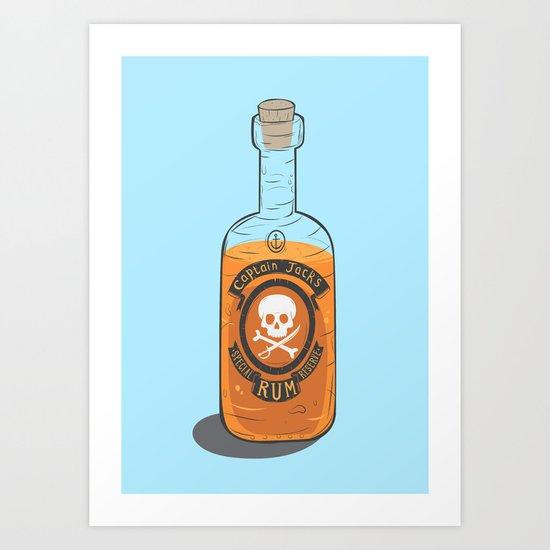 Captain Jack's Special Rum Reserve Art Print
