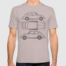 VW Beetle Blueprint Mens Fitted Tee LARGE Cinder