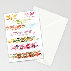 Butterfly arabesque Stationery Cards