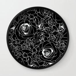 Black Bouquet Wall Clock