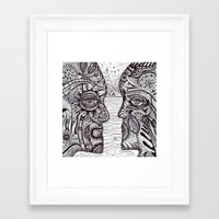 talking heads Framed Art Prints featuring Talking Heads by Karen Hickerson