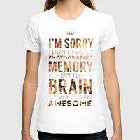 suits T-shirts featuring Suits - Too Busy Being Awesome by Hannah Adriano