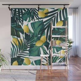 Tropical Lemon Twist Jungle #1 #tropical #decor #art #society6 Wall Mural