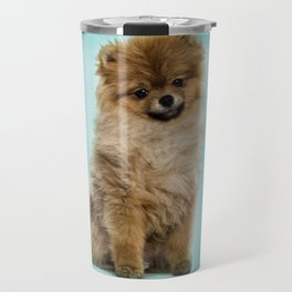 Cute Pomeranian Dog Travel Mug