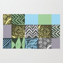 Colour block pastel Rug