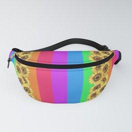 rainbow sunflower Fanny Pack