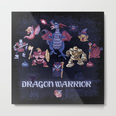 Warrior Dragon Metal Print