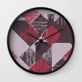 Rhomb 3 colours Wall Clock