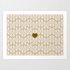 Heart pattern Art Print