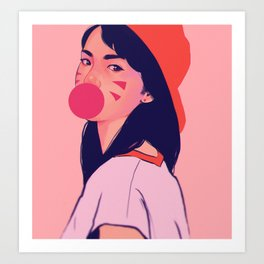 bubblegum pink Art Print
