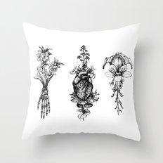 In Bloom - herbarium Throw Pillow