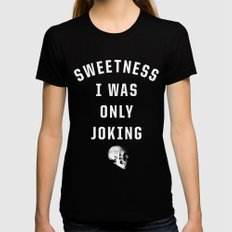 Sweetness MEDIUM Womens Fitted Tee Black