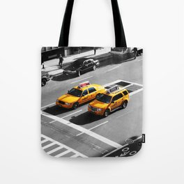 New York Cabs. Tote Bag