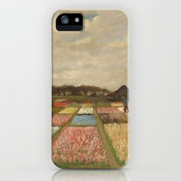 Classic Art - Flower Beds in Holland - Vincent van Gogh iPhone Case
