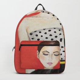 Portrait of a Model Woman Backpack