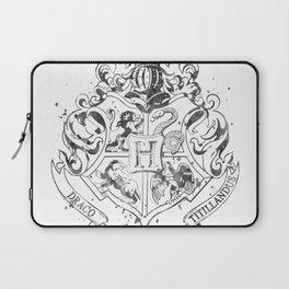 Hogwarts Crest Black and White Laptop Sleeve