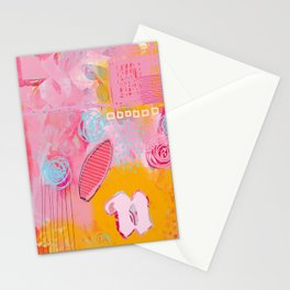 story of N - abstract painting Stationery Cards