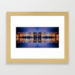 Vancouver Mirrored Framed Art Print
