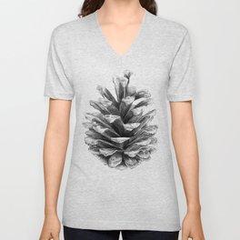 Pine Cone Unisex V-Neck