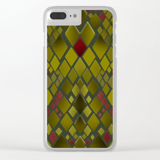 Snakeskin graphics. Clear iPhone Case