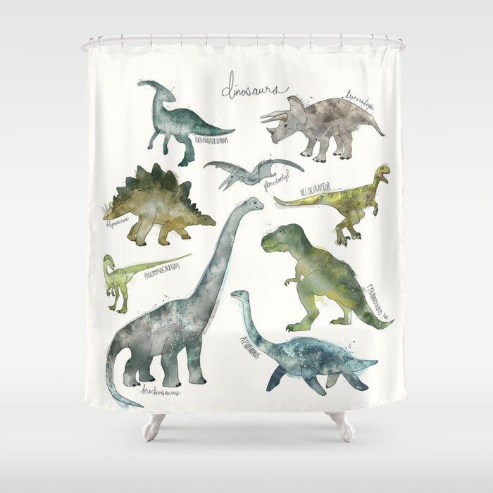 Dinosaurs Shower Curtain By Amyhamilton