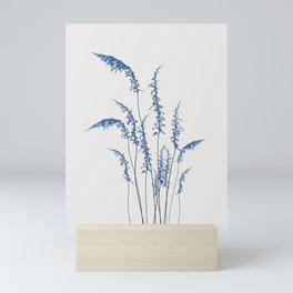Blue flowers 2 Mini Art Print