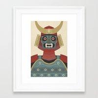 samurai Framed Art Prints featuring Samurai by James White