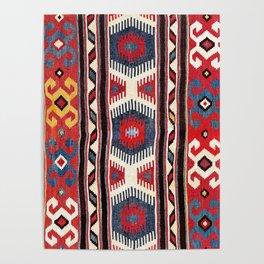 Kazak  Antique Southwest Caucasus Kilim Print Poster
