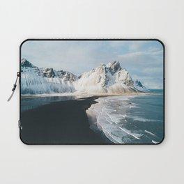 Iceland Mountain Beach - Landscape Photography Laptop Sleeve
