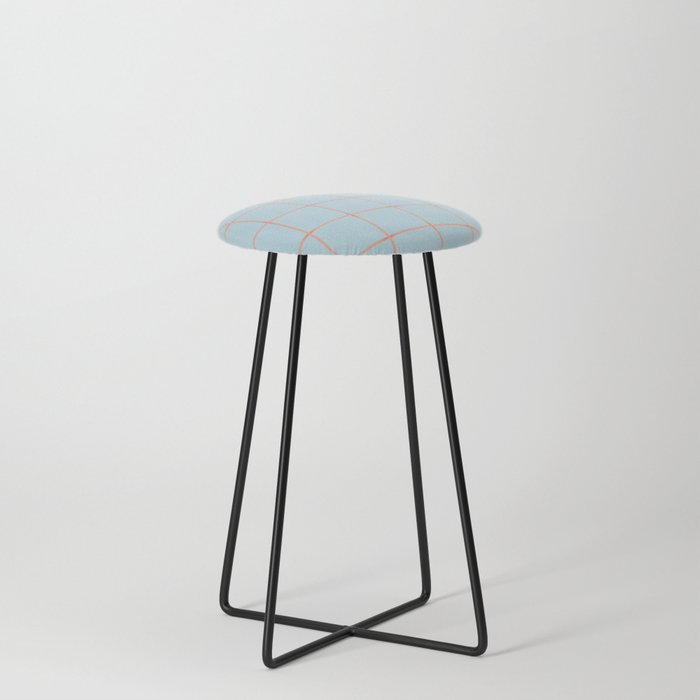 light blue open weave Counter Stool