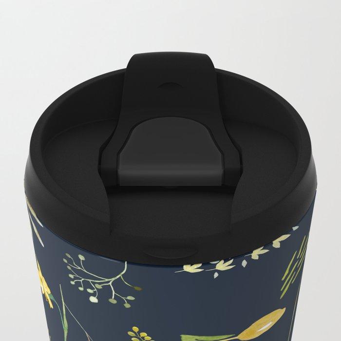 Yellow garden Metal Travel Mug