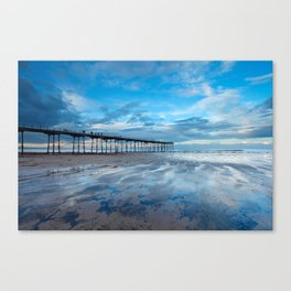 Saltburn Pier Blues Canvas Print