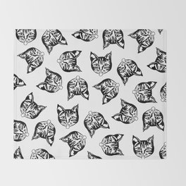 Black Mollycats Throw Blanket