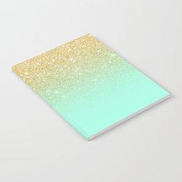 Modern gold ombre mint green block Notebook