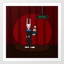 Tricky Bunny! Art Print