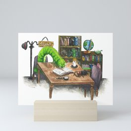 Little Worlds: The Library Mini Art Print