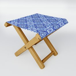 For the Love of Blue - Pattern 372 Folding Stool