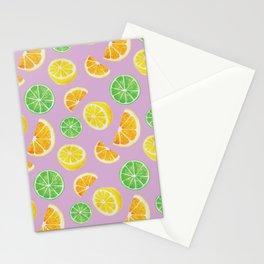 Citrus Pattern Stationery Cards
