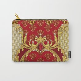 Decorative composition with perls,rubies and golden elements Carry-All Pouch