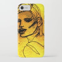 one line iPhone & iPod Cases featuring One Line by MRSCM Illustration