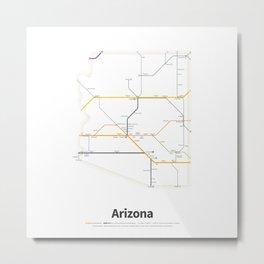 Highways of the USA – Arizona Metal Print