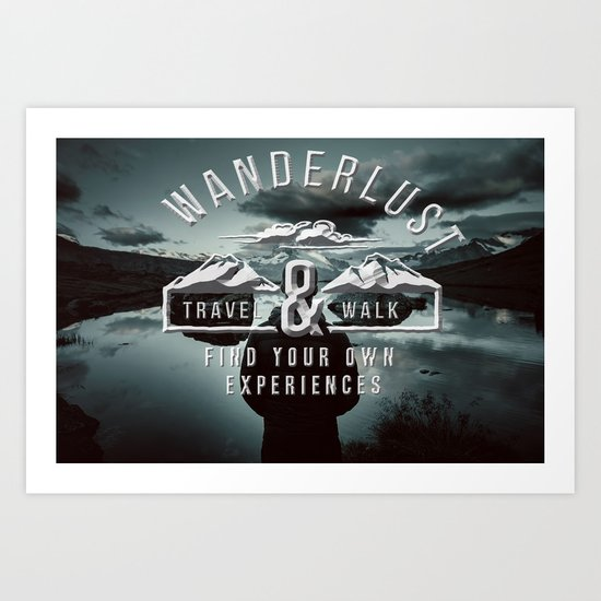 Wanderlust - Mountains and lake  - Photoadaption Art Print