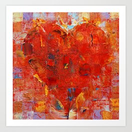 Patchwork Heart Art Print