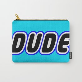 DUDE in Brick Font Logo Design [Alternate Colors] by Chillee Wilson Carry-All Pouch